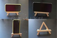 Popsicle Stick Crafts Popsicle Stick Craft Ideas Mobile phone holder mobile phon… Eis am Stiel Basteln Eis am Stiel Basteln Ideen Handyhalter Handyhalter Diy Phone Stand, Desk Phone Holder, Iphone Holder, Diy Phone Holders, Diy Home Crafts, Easy Crafts, Diy Popsicle Stick Crafts, Diy With Popsicle Sticks, Paint Stick Crafts