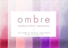 Pink Ombre Watercolour Textures  @creativework247