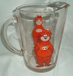 Who remembers this guy?            A Root Beer Collectible Glass Pitcher  by SacredArtDesignz, $45.00