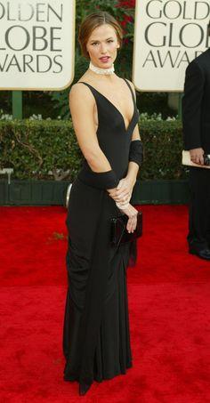 Pin for Later: Les 65 Tenues les Plus Glamour Jamais Vues aux Golden Globes Jennifer Garner, 2001 Portant une robe signée Ralph Lauren.