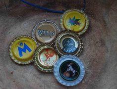 recycled bottlecap pendants
