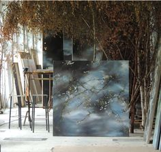 www.ompomhappy.com The French chateau studio of artist Claire Basler.