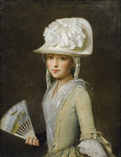 PROVENÇAL SCHOOL, 18TH CENTURY ; PORTRAIT OF A YOUNG LADY WITH A FAN ; OIL ON CANVAS
