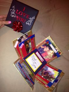 Exploding love box for boyfriend, glittery and fun and easy to make