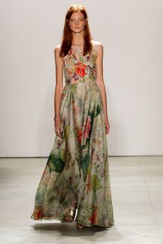 Jenny Packham S/S '16 Ivy Fashion, Runway Fashion, Sexy Dresses, Fashion Dresses, Floral Dresses, Jenny Packham Dresses, Ny Fashion Week, Spring 2016, Summer 2016