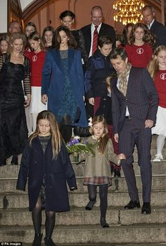 CP Mary of Denmark, CP Frederik of Denmark with Prince Vincent, Prince Christian, Princess Isabella, Princess Josephine at a Christmas concert. December 11 2016