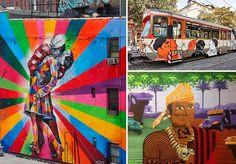 O graffiti se alastra pelo mundo todo ano após ano, sendo que alguns países já até o consideram como patrimônio público. O Brasil tem um talento nato para trabalhos manuais, desde artesãos até grandes artistas, que há séculos fazem sucesso na gringa. Com grafiteiros tão talentosos no país, não poderia ser diferente, e muitos deles já se conquistaram seu espaço em outros continentes. Entre muros, galerias de arte e museus, os artistas expõem seus trabalhos que envolvem crítica social…