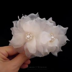 Swarovski Wedding Hair Flower Bridal Hair Flower by FiberStone