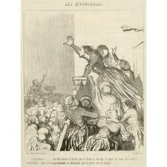Citoyennes… on fait courir le bruit … (Women Citizens… there is a rumor spreading…), Honoré Daumier, 1848