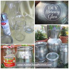 DIY Mercury Glass with ALittleClaireific... #DIY #MercuryGlass #ModPodge