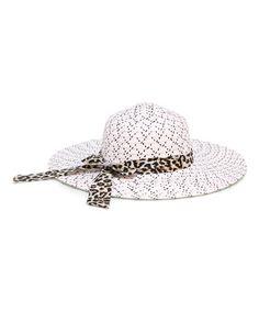 feb42dbf228 This White Leopard Sash Straw Sunhat by Magid is perfect!  zulilyfinds  White Leopard