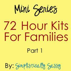 72 Hour Kits
