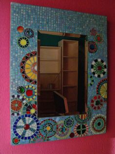 stained glass mosaic mirror. €230.00, via Etsy.