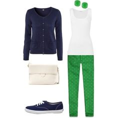 navy and green--perfect together!