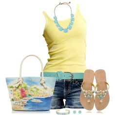California - soft yellows paired with  light blues make me feel like a happy sunny day