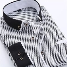 2018 Men Casual Long Sleeved Printed Shirt Slim Fit Male Social Business Dress Shirt Men Clothing Soft Comfortable Asian X Business Shirts, Business Dresses, Social Business, Business Casual, Business Fashion, Business Meeting, Mens Wedding Shirts, Only Shirt, Men Dress