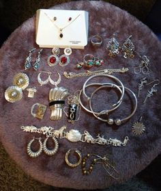 Fantastic Sterling Silver Jewelry Lot With Some Gold Scrap.
