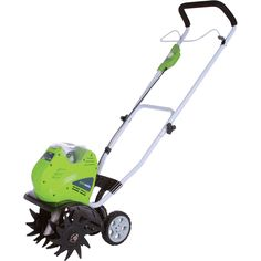 Greensworks 27062 g-max rototiller the most efficient gardening tiller