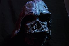 "Star Wars: Customs for the Kid: Star Wars Customizer ""Yakface"" Created a Scale Melted Vader Helmet from ""The Force Awakens"" Darth Vader Mask, Vader Helmet, Battlefield 4, Thing 1, Video Game News, Custom Action Figures, Electronic Art, Black Panther, Star Wars"