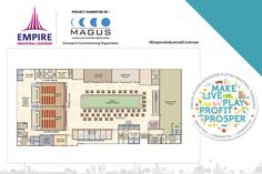 Check out the floor plan of the 2nd floor of the commercial space by Empire Centrum.  www.empirecentrum.com