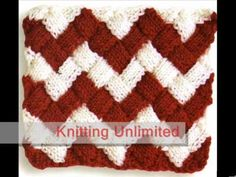 ▶ Entrelac Knitting Patterns - YouTube.... no tutorial. I just love this made into Chevron