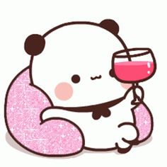 Panda Gif, Panda Bear, Cute Love Cartoons, Cute Cartoon, Sweet Memes, Cute Bear Drawings, Wonder Art, Cute Love Gif, Little Panda