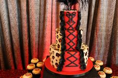 Leopard Print Birthday Bash » Fearon May Events, Cake by Sweet Cakes by Rebecca