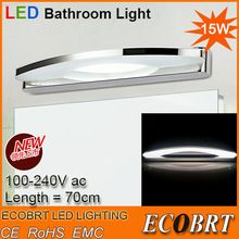Hot Sell  New Design 15W 70CM LED wall light bathroom 2835 SMD White indoor mirror-front Sconces lights lamps decorative lighting(China (Mainland))