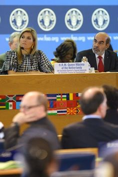 Queens & Princesses - Queen Maxima participated in the World Day of the food that was held at the United Nations Fund for agriculture and food in Rome. She attended as a representative of the UN.