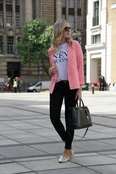 Style Cookbook by Simone Pink Blazer Outfits, Style Me, Fancy, Lifestyle, Jeans, Fitness, How To Make, Fashion, Moda