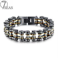 Menu0027s Stainless Steel Bike Chain Bracelet