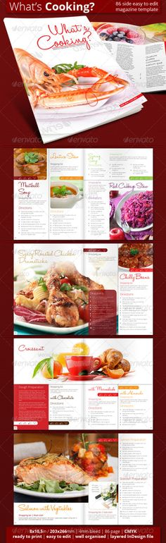 Indesign Cookbook Template  Indesign Templates Favorite Recipes