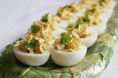 Bacon- Balsamic Deviled Eggs: pepper, flat leaf parsley, large eggs ...