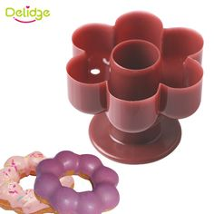 Delidge 1pc Flower Donut Maker Cutter 3D Plastic Donuts Mold DIY Fondant Cake Bread Desserts Bakery Mould Kitchen Baking Tool