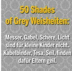 50 shades of grey Weisheiten
