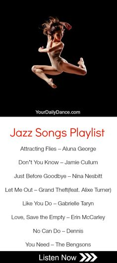 Jazz dancing songs 30 ideasYou can find Jazz dance and more on our website. Dance Music Playlist, Songs For Dance, Jazz Songs, Dance Tips, Song Playlist, Dance Poses, Jazz Dance Moves, Music Songs, Contemporary Dance Songs