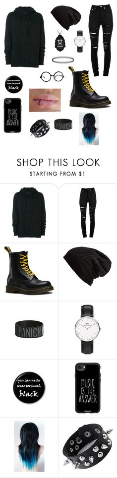 """Emo"" by maiwinniethepooh ❤ liked on Polyvore featuring Yuiki Shimoji, Yves Saint Laurent, Dr. Martens, Free People, Hot Topic and Casetify"