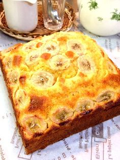 主人の実家への、お年賀として。 紅白みながら作りました ^o^ - 14件のもぐもぐ - バナナたっぷりパウンドケーキ by chitochito99