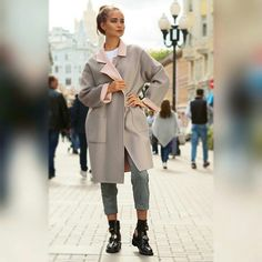 Пальто Шерсть 80% Кашемир 20% Размер oversize