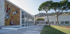 Roma, Foro Italico, via dei Gladiatori: accademia della scherma (Luigi Moretti, 1935-36)