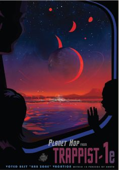 Trappist-1e Vintage Travel Poster (Visions of the Future Series by NASA)
