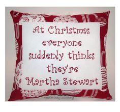 Cross Stitch Christmas Pillow