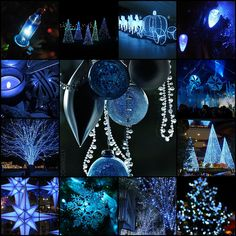 Twinkling Blue Christmas ! by LHDumes, via Flickr