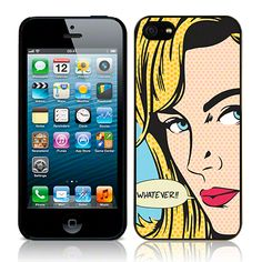 """Apple iPhone 5 """"Litchtenstein"""" Glossy Image Back Cover By Call Candy - Whatever (122-095-131)"""