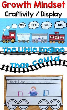 A growth mindset classroom display based on the classic tale The Little Engine That Could. Students create the train cars for the display making it meaningful and memorable. Get all the pieces needed to create this growth mindset display in your classroom plus links to growth mindset resources - https://www.teacherspayteachers.com/Product/Growth-Mindset-Craftivity-Classroom-Display-The-Little-Engine-That-Could-2787449