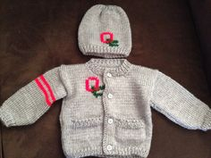 Ohio State Baby Sweater on Etsy, $35.00