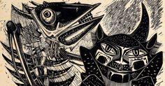 Xilogravura de Marcelo Grassmann feita em 1954