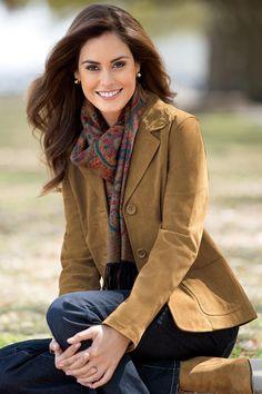 Genuine Suede Blazer - Women's Suede Jacket | Chadwicks of Boston