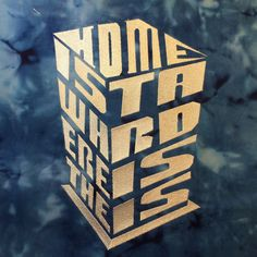 Home is Where the TARDIS Is perspective box Machine Embroidery Design 4x4, 5x7, 6x10 AND 8x12