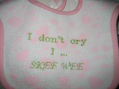 AKA-themed baby bib...need this if I ever have a daughter!